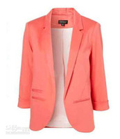 Wholesale 2012 New fashion Women No Button Suit Ladies Lovely Jacket Coat Outwear expecting your attention