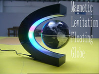 Wholesale ship by EMS LED magnetic suspension toy magnetic suspension globe Magnetic Levitation Floating Globe LED Light inch antigravity globe