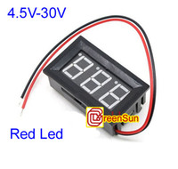 Cheap 10pcs New LCD Display Red Digital Volt Meter Voltage Panel DC 4.5-30V Doesn't Require Power