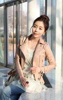 Wholesale Womens coat slim clothing Faux PU Leather Zip Rivets Short Casual Jacket Outerwear Coats