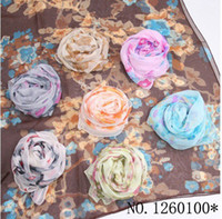 Wholesale EMS Pieces Silk Beach Scarf Women Chiffon Scarf Comfortable Shawl Party Beach Scarves