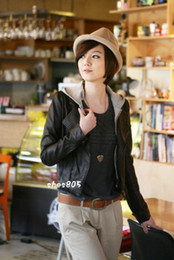 Womens coat clothing Faux Leather Zip Rivets jacket with hoodies Short Casual Outerwear Coats 183