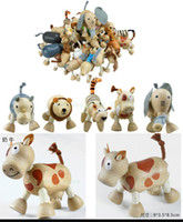 Wholesale Cool Best ANAMALZ Moveable Wooden Toys Zoo Animals Dolls Maple Wooden Textiles Toys For Kids