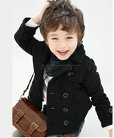 Wholesale Autumn Winter Korean Kids Clothes Double breasted short children s fashion boy small suit jacke Coat
