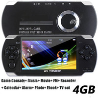 Wholesale 4GB quot MP5 Player Game Console Music Movie TV mp3 mp4 FM Recorder Calendar Alarm Photo Ebook