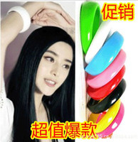 Wholesale Trendy womens girl bangle girl s fashion bracelet candy color bracelets mix order