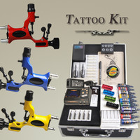 Wholesale Complete Tattoo Kits Guns Rotary Dragonfly Machines Colors Inks Sets Pieces Disposable Needles LED Power Supply DIY DH USA