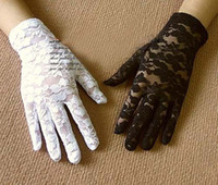 Wholesale wedding stretch gloves Sexy Wrist Lace gloves