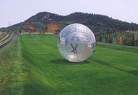 Wholesale 2012 Hot Sell NEW ZORB BALL TPU or mm PVC zorb ball GRASS BALL Dual harness with air blower