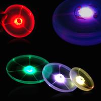 Wholesale LED Light Up Flying Disk Frisbee Raver Glow Burning Rave Man Toy Party Lighted