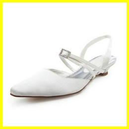 Wholesale Sexiest Satin Slips - Sexy 2015 Real Sample Ivory Closed Toe Satin 2cm High Heels Women Bridal Wedding Sandal Shoes 19-011
