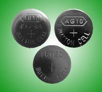Cheap 3000pcs AG10 LR1130 SR1130 LR54 V10GA 1.5v alkaline coin cell battery button cells for watches LED lights