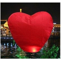 Wholesale Heart shape china sky lantern flying lantern KongMing lantern paper lantern Degradable EMS Free