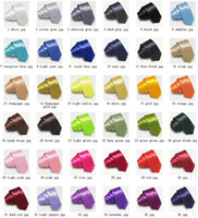 Wholesale Neck Ties slim ties skinny ties colors tie neck tie men s ties solid color tie neckties cravat