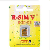 Wholesale SIM V R SIM5 Unlock SIM Card for iOS GSM CDMA baseband T MOB amp FIDO Multi Network