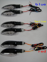 Wholesale motorcycle LED red blue yellow lighting color effect turn signal direction lights warning lights