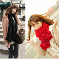 Wholesale Fashion Lovely Girls Women s Knit Neck Cowl Wrap Scarf wool scarf shawl