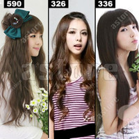 Wholesale New quot quot Clip On Hair Extensions Straight Wavy styles in choice fx10