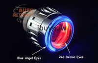 headlight projector lens - 2 G5 HID Bi xenon Headlight Devil Eyes Projector Lens Kit H1 H7 H4 With Ballasts