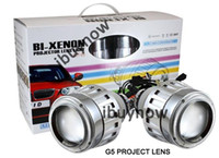 Wholesale 2 G5 HID Bi xenon Headlight Angel Eyes Projector Lens Kit H1 H7 H4 With Ballasts