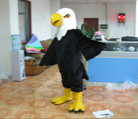 Wholesale long fur eagle mascot costumes fancy dress for adults good quality can be customized