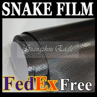 Wholesale Black Snake Skin Texture Style Vinyl Film Wrap for Cars Body Surface Car Stickers Vehicle Wrapping Decoration Auto Sticker with Air Drains
