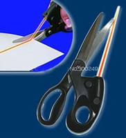 Wholesale Laser Guided Scissors trimmer Cuts Straight Fast Sewing Fabric Paper Straight Stainless Steel