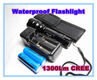 Wholesale UltraFire C8 Lm CREE XM L LED modes Waterproof Flashlight x18650 Battery Charge