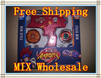 Wholesale One Piece Beyblade Hybrid Wheel Fight Attack Double Launcher Beyblade lanceur double toupie beyblade