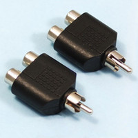 Wholesale x RCA Male to RCA Female Y Splitter Audio Adapter