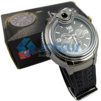 Wholesale Lighter Watch Watch lighter inflatable open flame gold silver black optional Satcus