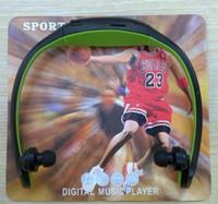Cheap Sport MP3 Player support max 8GB SD TF Card sport Headset wireless Headphone 20pcs lot