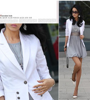 Wholesale Fashion Women Outwear Small Suit One Button Slim Long Sleeve Ladies Coats Jackets Autumn Clothing