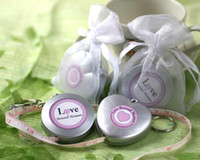 Wholesale Wedding Bridal Gifts quot Love Beyond Measure quot Measuring Tape Keychain in Sheer Organza Bag