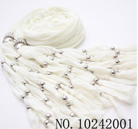 Wholesale Mix colors Women Jewelry Beads drape Scarf Decoration Pendant Scarves Candy Design fortunate148