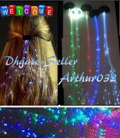 Wholesale Beautiful Gift Led Hair Barrette decorations Flash Brain Girls Fiber Optic gift Light up Hair RGB