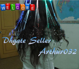 Wholesale Beautiful inch Led Hair Extension Flash Brain Girl s Fiber Optic Light up Barrette RGB
