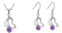 Wholesale New Arrival Butterfly Wedding Jewelry Sets Zircon Diamond Jewelry Necklaces Earrings