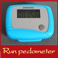 Wholesale 10PCS LCD run step pedometer high accuracy mini runners counter amount sports tools