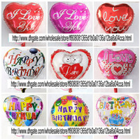 Wholesale 18 quot foil balloons birthday decoration helium heart balloon party supply aluminium printing balloon