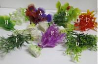 Wholesale Aquarium fish tank Ornament Plastic Plants Decor mixed design