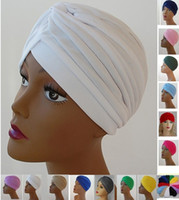 Wholesale DHL Free Fashion Turban Head Wrap Band Hat Cap Chemo Bandana Many Colours Unisex can Mix