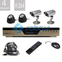 Wholesale CCTV system Channel H CCTV DVR Kit with Night Vision CMOS Cameras