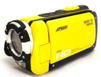 Wholesale 3 quot Screen MP FULL HD P Waterproof Digital Video Camera Camcorder HDMI Yellow GB card