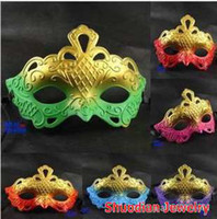 Wholesale 2012Hot Masquerade Masks Carving Flower Party Mask Halloween Masks Christmas Mask For Gift