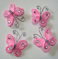 Wholesale PC Lovely Handmade Mixed color stocking BUTTERFLY Wedding Decoration cm FREE