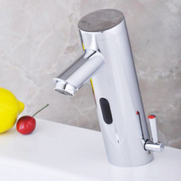 Wholesale NEW Hot Cold Mixer Automatic Hand Touch Free Sensor Faucet B Sink Tap
