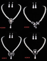 Wholesale Promotion Pearl Necklace and Earrings Jewelry set Imitation Pearl sets SW3385