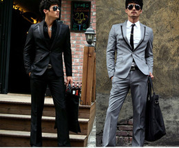 Wholesale fashion wedding suits men s suits jacket pants button S XXL men s groom dress