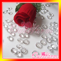 Wholesale 1000 Clear White Crystal carat mm Acrylic Diamond Confetti Wedding Party Table Decoration Decor